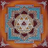 Obrazy - Durga Yantra / Mandala odvahy a víťazstva - 8791833_