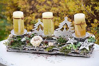 Dekorácie - Vianočný svietnik - 8788023_