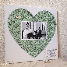 Darčeky pre svadobčanov - Srdiečkové srdce s fotkou farebné (Mint (mentolová)) - 8793464_