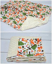 Úžitkový textil - Minky deka líšky - 8793329_