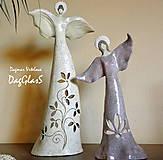 Dekorácie - Keramická dekorácia / svietnik  Anjelské bytosti - 8790590_
