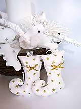 Dekorácie - Vianočné škriatkovské čižmičky... - 8789789_