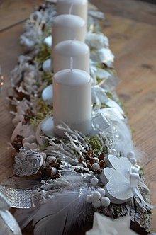 Dekorácie - Advetný svietnik ľadová krása - 8793595_