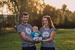 Tričká - Rodinná sada tričiek - pásiky - 8794344_