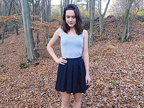 Sukne - čierna skladaná sukňa - 8794176_