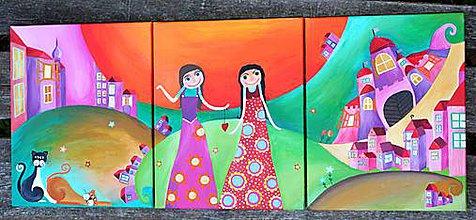 Detské doplnky - Tri krasne obrazky do detskej izbicky - 8791660_