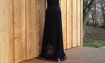 Sukne - Teploučká fleecová sukně na míru - 8794286_