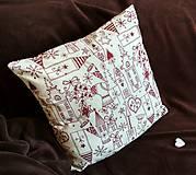Úžitkový textil - Vianočná obliečka - 8790606_