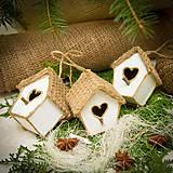 Dekorácie - domček pre vtáčiky sada - 8793027_