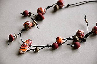 Náhrdelníky - náhrdelník v jesenných farbách - 8793551_