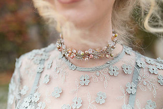 """Náhrdelníky - Choker náhrdelník """"slzy lásky"""" - 8788609_"""