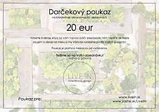 Darčekové poukážky - Darčekový poukaz 20 eur - machový obraz - 8793287_