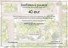 Darčekové poukážky - Darčekový poukaz 40 eur - machový obraz - 8793324_