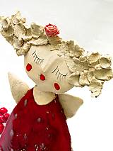 Socha - anjel červený originál - 8790908_