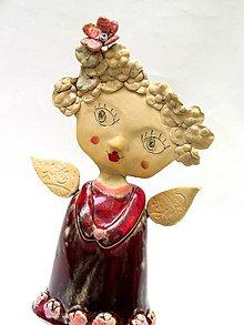 Dekorácie - anjel socha originál - 8790987_