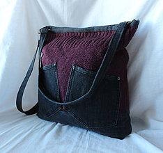 Veľké tašky - Riflovo svetrová :O) - 8788786_