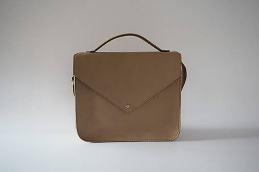 Veľké tašky - Hnědá psaníčková  - 8788733_