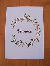 Kresby - Pohľadnice Vianoce - 8791118_