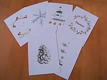 Kresby - Pohľadnice Vianoce - 8791128_