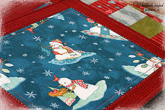 """Úžitkový textil - prestierania """"snehuliaci"""" - 8788586_"""