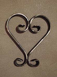 Dekorácie - železné srdce - 8792381_