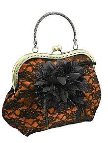 Kabelky - Spoločenská kabelka oranžová , dámská kabelka  09552D (Čierno-biela) - 8798700_