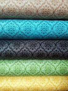 Textil - Gorjuss - Birds of a Feather - Damask (Žltá) - 8795049_