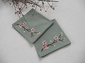 Úžitkový textil - Neha (prestieranie so sakurou) - 8796718_