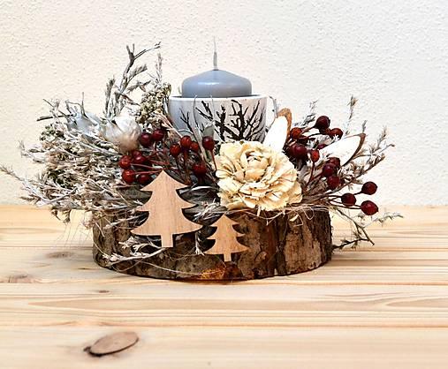 Vianočný svietnik-prírodný s ružou-SKLADOM   HerAn - SAShE.sk ... 560a55856ba