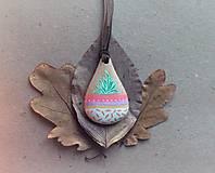 Náhrdelníky - ❁ Ručne maľovaný drevený prívesok - Kvetináč - 8795596_