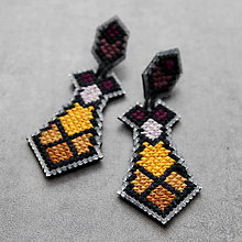 Náušnice - cross - 8799080_