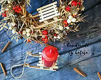 Dekorácie - vianočné sánky midi - 8796782_