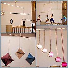 Hračky - Montessori závesné mobily sada SO STOJANOM - 8795333_