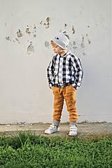 Detské oblečenie - Obojstranné nohavice MAX škoricové - 8796731_