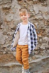 Detské oblečenie - Obojstranné nohavice MAX škoricové - 8796732_