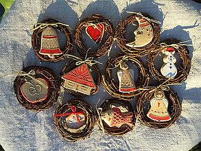 Dekorácie - Vianočné minivenčeky - 8798465_