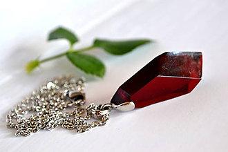 Náhrdelníky - Náhrdelník Rubínový kameň menší (2290 A CHO) - 8798761_