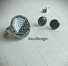 Sady šperkov - sada dots smaragd - 8794566_