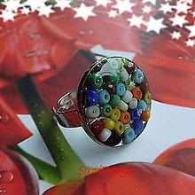 Sady šperkov - prstienok farebný sen - 8794595_