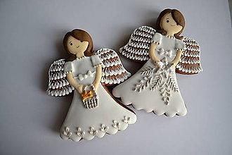 Dekorácie - Medovník - anjel - 8798815_