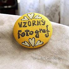 Pierka - Svadobný odznak pre fotografa - 8797365_