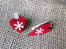 Dekorácie - Darčekové štipce - mini - 2 kusy - 8799466_