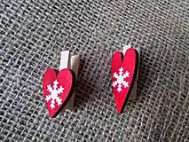 Dekorácie - Darčekové štipce - mini - 2 kusy - 8799467_