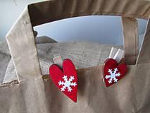 Dekorácie - Darčekové štipce - mini - 2 kusy - 8799468_
