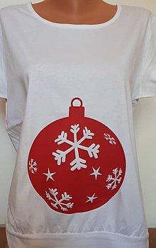 Tehotenské/Na dojčenie - Tehotenské tričko vianočné - 8795656_