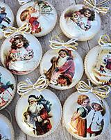 Dekorácie - Vintage vianočné ozdoby - 8797671_