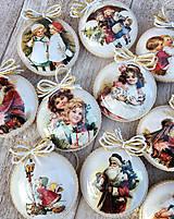 Dekorácie - Vintage vianočné ozdoby - 8797672_