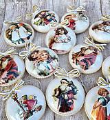 Dekorácie - Vintage vianočné ozdoby - 8797679_