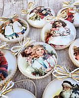 Dekorácie - Vintage vianočné ozdoby - 8797681_