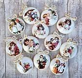 Dekorácie - Vintage vianočné ozdoby - 8797682_